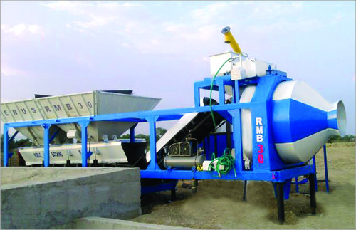 Concrete Batching Plant With Reversible Drum Type Mixer