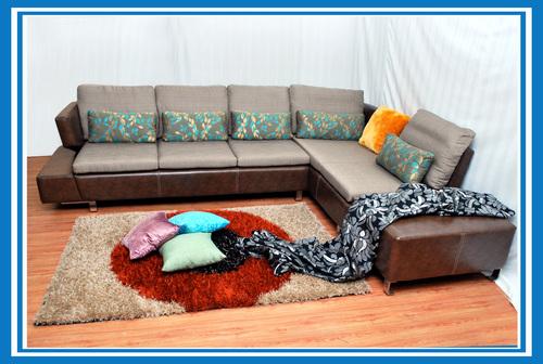 White Color Corner Sofa Set