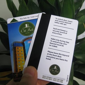 Magnetic Stripe Plastic Hotel Key Cards for Access