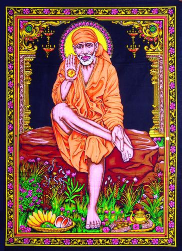 Shirdi Wale Saibaba Sai Baba Cotton Poster (Size: 30x40)