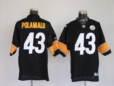 new style 067ec d9a5a Troy Polamalu #43 Pittsburgh Steelers Black Authentic Nfl ...