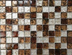 Golden And Silver Leaf Foil Glass Mosaic