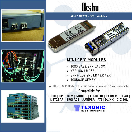 Ikshu SFP XFP SFP+ COPPER SFP Modules - TEXONIC INSTRUMENTS