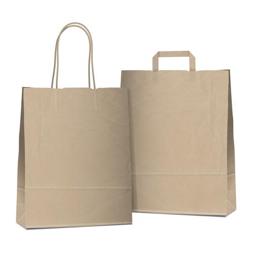 Paper Bag In Hand Made Kraft