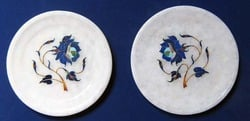 5 Inches Marble Plate Set