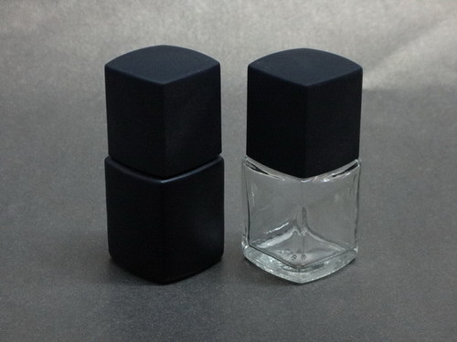 Square Empty Glass Nail Polish Oil Bottles With Brush
