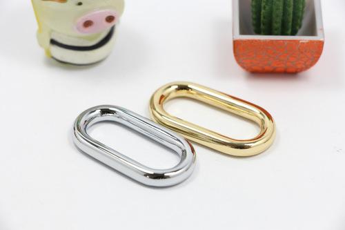 Eco Friendly Anti Corrosive 316 Stainless Gun Metal 25mm Egg Rings Rectangle Loop