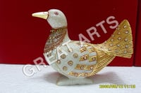 Marble Gold Painted Pigeon