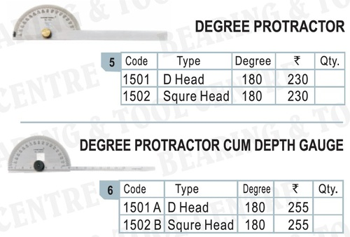 Stainless Steel Degree Protractor (D Head)