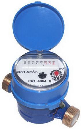 Single Jet Dry Water Meter