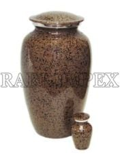 Earth Brown Marble Cremation Urns