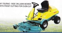 Ride On Lawn Mower With Front Cutting For Even Cut
