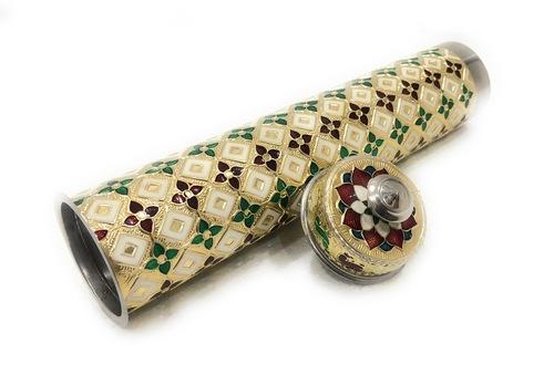 Golden Incense Sticks Storage Box Durable