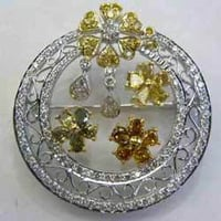 Diamond Pendants Cum Brooches