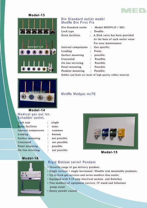 Din Standard Outlet Model Medflo Din First Fix