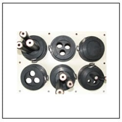 Wall Entry Plate With Rubber And Hose Clamp