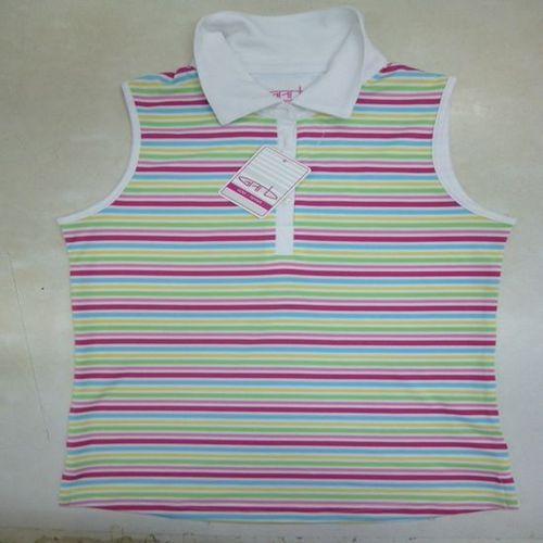 Sleeve Less Polo Shirt