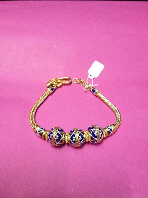 Enameled Gold Plated Silver Bracelets