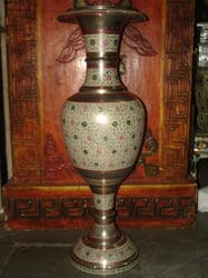Fine Brass Long Vase
