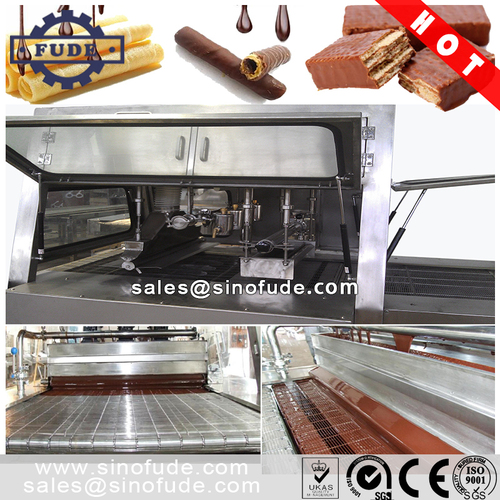 Chocolate Enrobing Machine With Cooling Tunnel