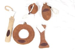 Leather Suede Dog Playing Toys