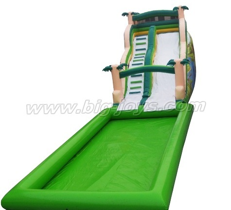 Inflatable Forest Water Slide With Pool