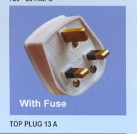 13-Amp Top Plug with Fuse