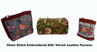 Velvet And Leather Purses