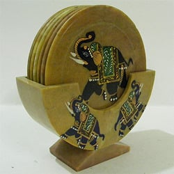 Painted Table Coaster Set