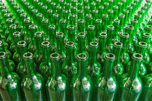 Green Color Glass Bottles
