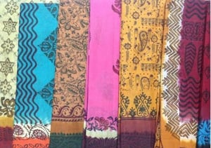 Cotton Sarees In 3 Colour Dyeing