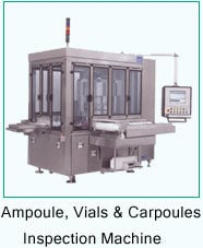 Ampoules and Carpoules Inspection Machine