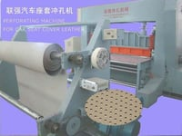 Perforating Machine For Car Seat Cover Leather