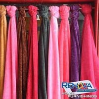 Trendy Plain Coral Fleece Curtains