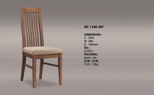 Sleek Design Slat Back Chair