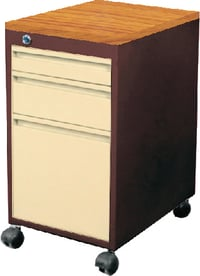 Mobile Pedestal With 2 Drawers And 1 Filing Drawer
