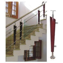 Designer Stair Railings With Wooden Balusters