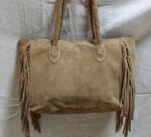 Suede Leather Tote Bag