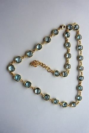 Blue Topaz Gold Plated Necklace