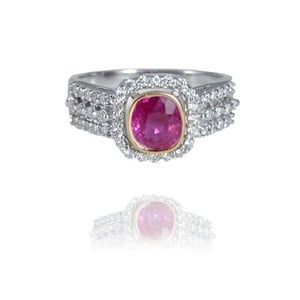 Eternal Diamond And Ruby Ring