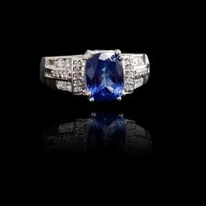 Timeless Diamond And Sapphire Ring