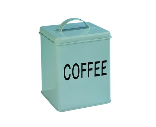 Square Coffee Tin With Handle