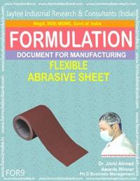 Abrasive Sheet Making Formula
