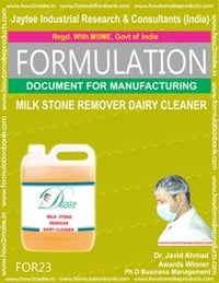 Formulation Document For Milk Stone Remover Dairy Cleaner