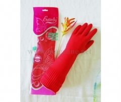 15 Inch Red Rose Household Rubber Gloves