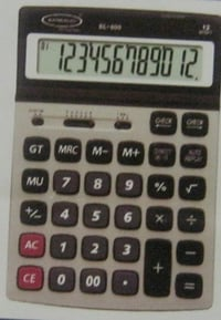 12 Digit Portable Dual Power Calculator (Bl-600)