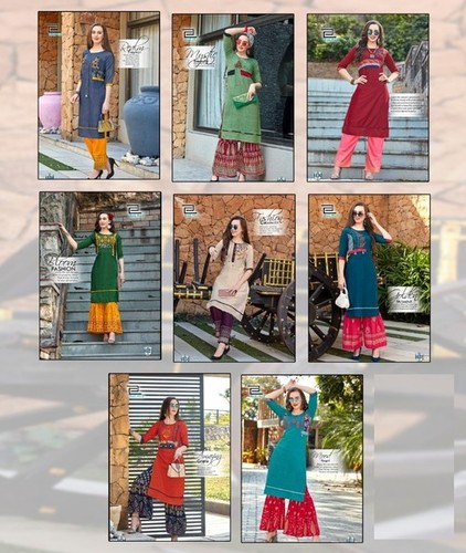 Heavy Embroidery Kurtis