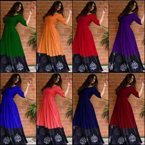 Rayon Decent Long Gown