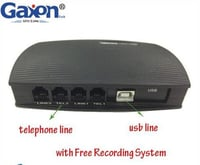 2 Channel USB Analog Phone Call Recorder