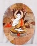 Wooden Buddha Painting